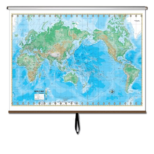 World Advanced Physical Wall Map Roller (Advanced Physical Classroom Wall Maps)