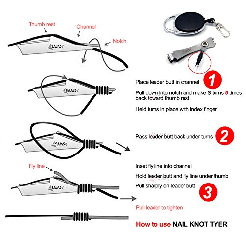 Samsfx fly fishing knot tying tool knot tyer and nail for Fishing knot tying tool
