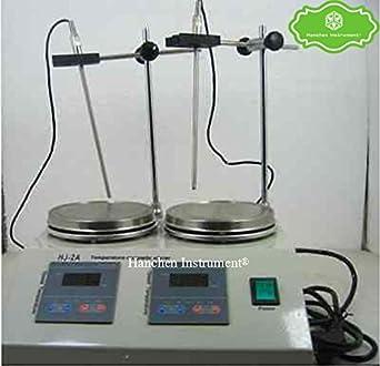 2 Units Heads Multi-unit Digital Thermostatic Magnetic Stirrer Hotplate mixer U