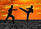 Home Comforts LAMINATED POSTER Muay Thai Silhuetten Kick Boxing Martial Arts Poster