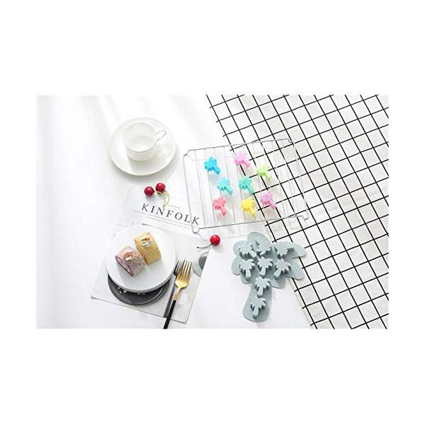 UMTGE - Vaschetta per cubetti di ghiaccio, in silicone e flessibile, 8 vassoi per ghiaccio, per bambini, con caramelle… 5 spesavip