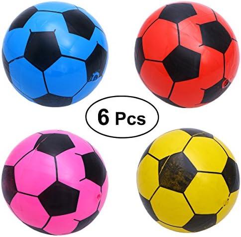 TOYMYTOY Balón de Fútbol Bolas Pelotas Juguetes Deportivos para Niños Color al Azar 6 Piezas: Amazon.es: Juguetes y juegos