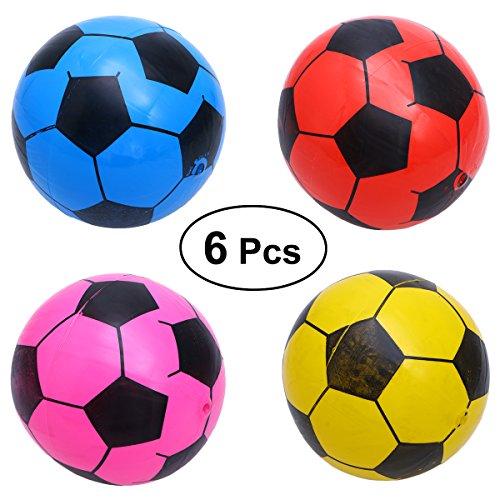 TOYMYTOY 6pcs Inflatable Soccer Ball Plastic Football Kids Sport Balls Toy Random -