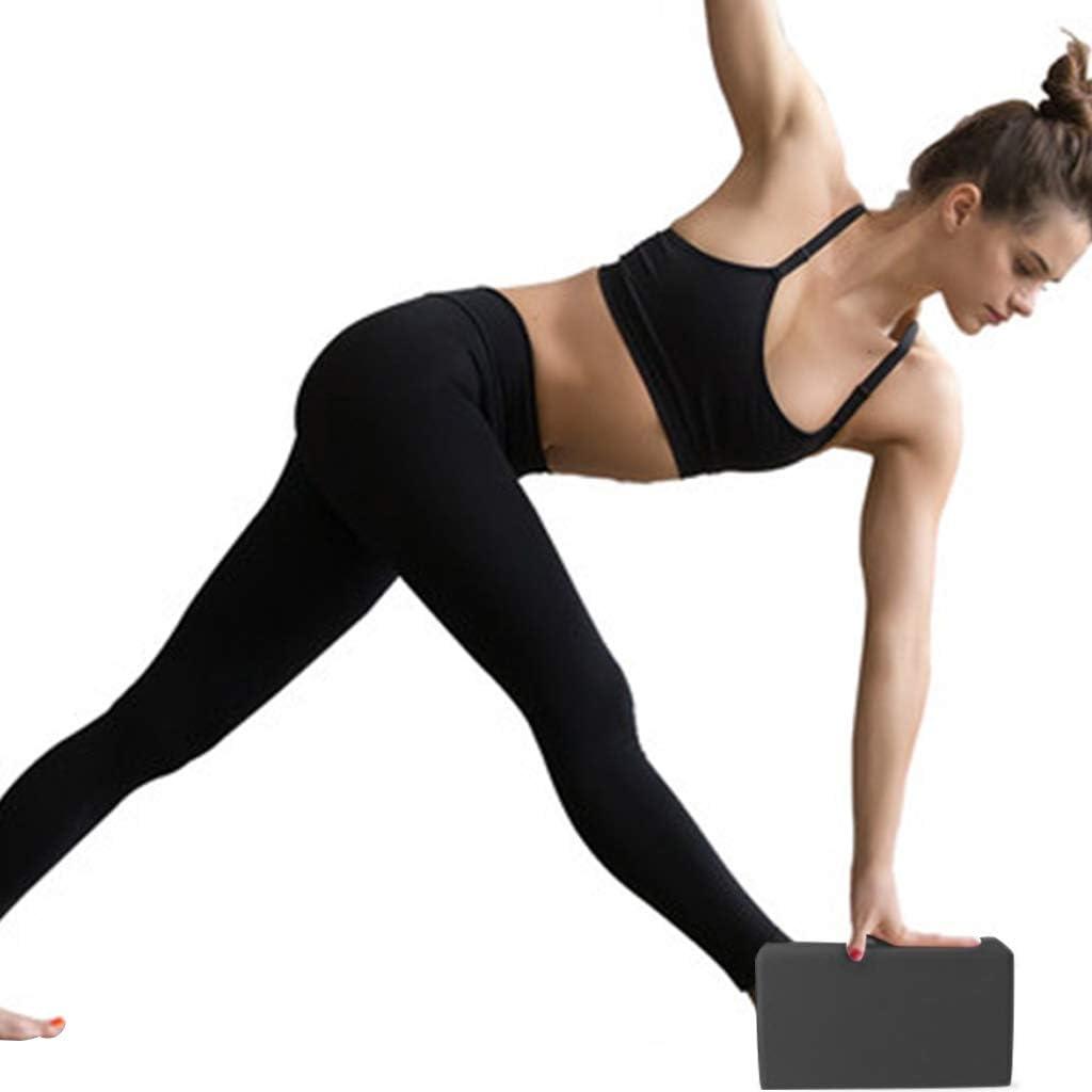 NOL 3 Piezas Set de Yoga Bloques de Yoga y Correa para Yoga con Anillo Banda El/ástica Banda de Resistencia para Yoga Equipo de Yoga