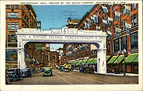 Tercentenary Arch, Erected by the Outlet Company 1936 Providence, Rhode Island Original Vintage - Outlet Providence