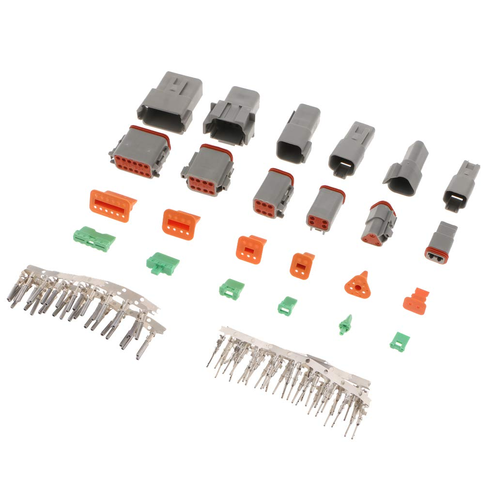 22-16 Gauge perfk Deutsch 2,3,4,6,8,12 Pin Connector Kit with Housing Pins /& Seals Crimp Style Terminals