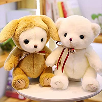 SXPC Plush Software Cartoon White Bear with Rabbit hat Pillow Pillow Children's Gifts Plush Toys,B: Sports & Outdoors