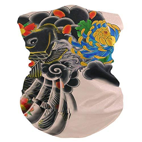 Japanese Tattoo Outdoor Magic Headband Multifunctional Elastic Seamless BandanScarf UV Resistence Sport Headwear
