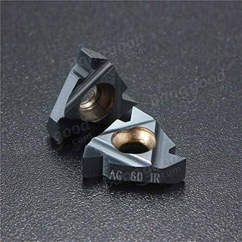 PIKA PIKA QIO 10pcs Carbide Threading Einsätze Drehwerkzeug-Halter Einsätze 16IR AG60 Drehwerkzeuge
