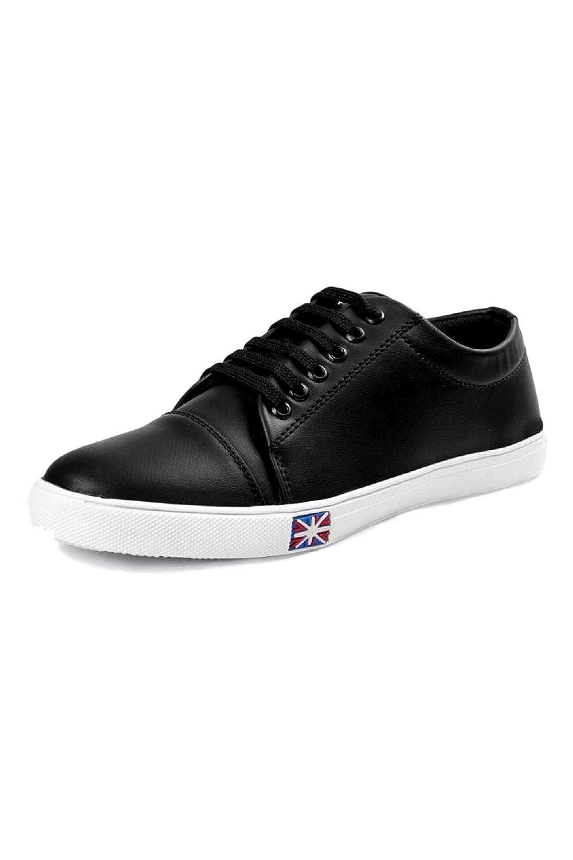 332fe419a REDCRAFT Men's Black Canvas Casual Sneakers UK7: Amazon.in: Shoes & Handbags