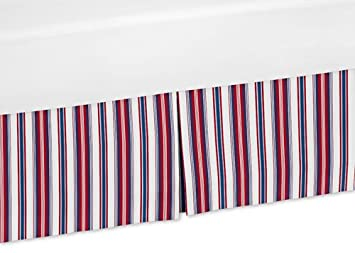 Amazon Com Sweet Jojo Designs Red White And Blue Stripes Crib