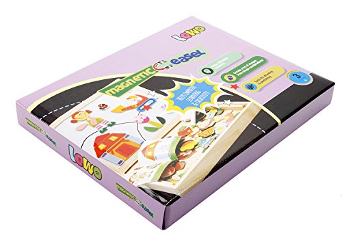 Lewo Girls Boys Toys Magnetic Easel Wooden Double-face Dry ...