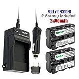 Kastar NP-FM500H Battery (2-Pack) a