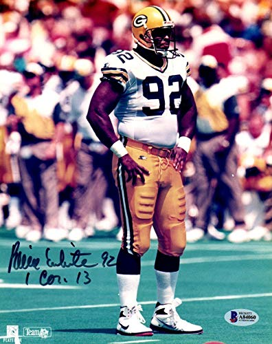 (Beckett-Bas Reggie White Green Bay Packers Autographed Signed-Autographed Signed 8x10 Photo A84060 - Certified Signature)