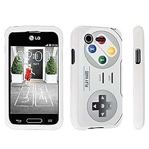 DuroCase ? LG L34C Optimus Fuel / LG Optimus Zone 2 VS415PP Hard Case White - (Video Game Controller)
