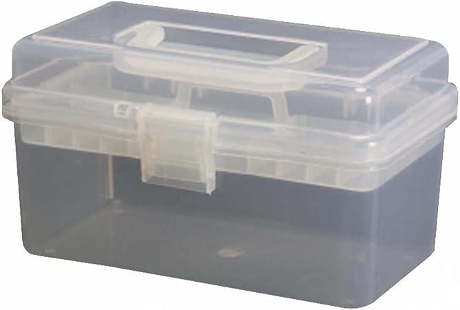 Black Temptation Caja Multiusos de la Caja de almacenaje del hogar Caja de Herramientas Caja de Herramientas, Transparente: Amazon.es: Hogar