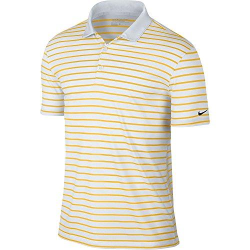 Nike Polo Icon Stripe Gamma di mais/bianco/nero