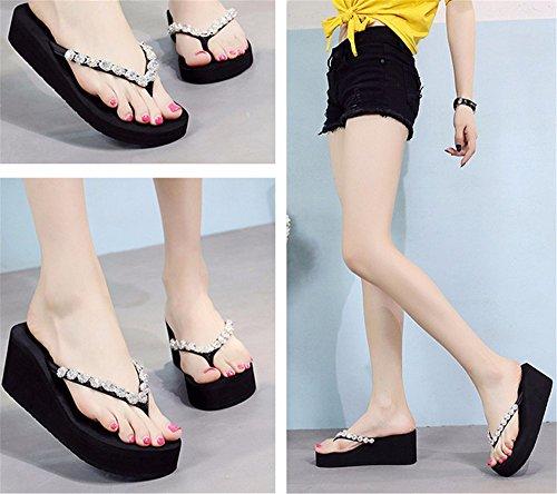 moda calambres b antideslizante chanclas playa mano FLYRCX aire de SHOES señoras zapatillas verano libre casual al wqxIAC