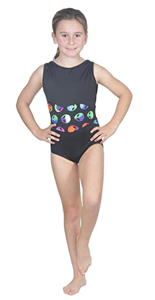 739770fb7e Delicate Illusions Girls Sleeveless Tank Fitness Gymnastics Leotard Outfit  Apparel Two Tone L (8-