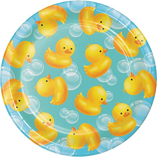 Rubber Duck Bubble Bath Dessert Plates, 24 ct