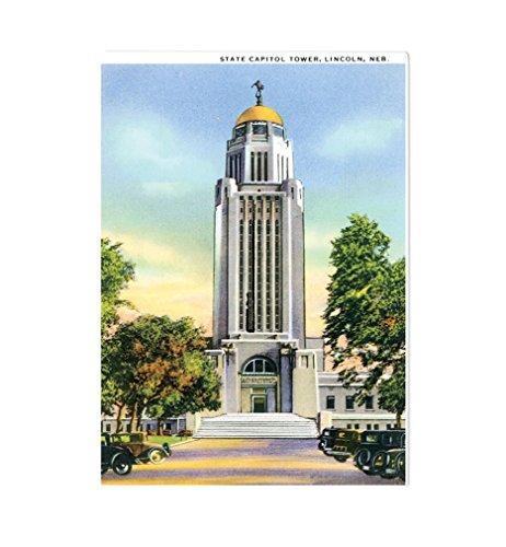 State Capitol Tower, Lincoln, Ne Kitchen Bar Glass Cutting Board - Ne Glasses Lincoln