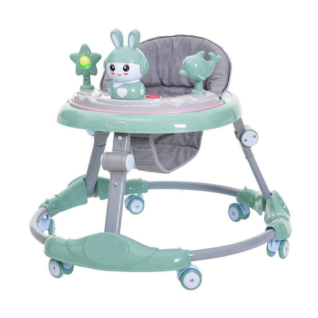 Geburtstagsgeschenk Musikbox Spielzeugauto H/öhenverstellbar Junge und M/ädchen Anti-Rollover-Push-Auto ATTDDP Baby Walker Lauflernhilfe Geeignet f/ür 6-18 Monate Baby