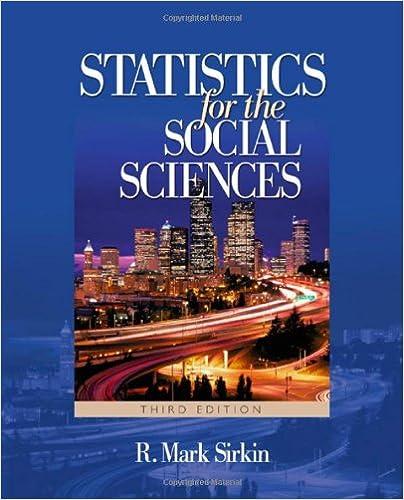 Amazon.com: Statistics For The Social Sciences (9781412905466): R. Mark  Sirkin: Books
