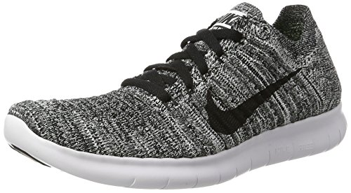 NIKE Free RN Flyknit (GS) Running Trainers 834362 Sneakers Shoes (US 7 M Big Kid, White Black 100)