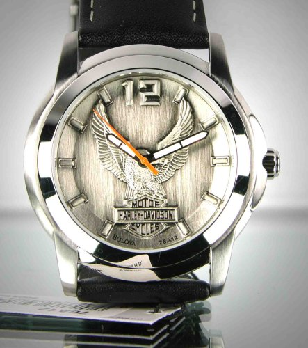 harley davidson bulova men s watch raise pewter dial 76a12 harley davidson bulova men s watch raise pewter dial 76a12 amazon co uk watches