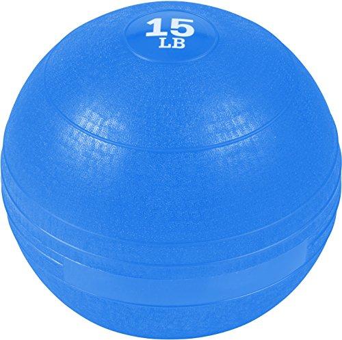 Trademark Innovations Exercise Slam Medicine Ball (Blue, 15 Lbs.)