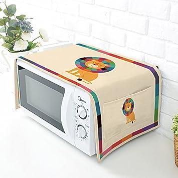 HZC30-B - Funda protectora para horno de microondas con tela de lino y algodón 4#: Amazon.es: Hogar