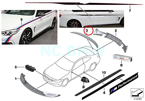BMW Genuine Matt Black Rear Spoiler