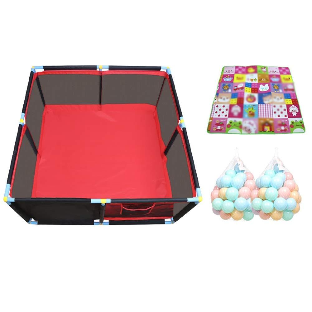 週間売れ筋 -ベビーサークル Playpensラージツインズセキュリティフェンス サイズ、学習するためのポータブルベイビープレイヤード、レッド+ブラック (色 -ベビーサークル : Small, サイズ Small さいず : Playpen+mat+100ball) Playpen+mat+100ball Small B07P9WKXZG, 髪わざ:9ad471b0 --- a0267596.xsph.ru