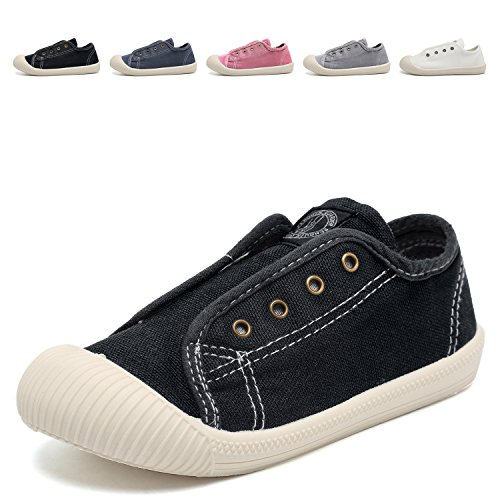 Next Shoes Kids (CIOR Boy's and Girl's Canvas Sneakers Casual Low-Top Walking Shoes(Toddler/ Little Kids)-Black-30)