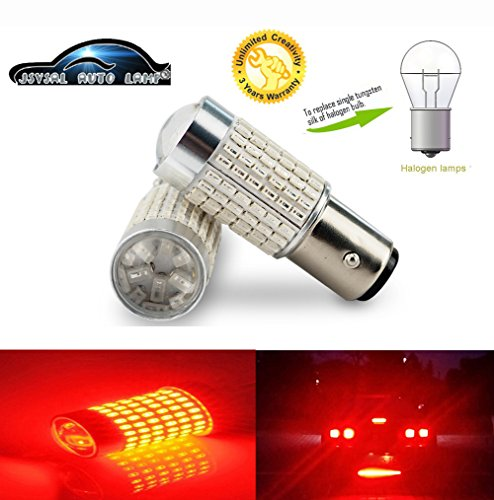 3 years quality assurance DC9-30v wide range input Wiseshine led auto bulb baw15s PR21W led bulb S25 18smd 5050 baw15s 18smd 5050 Red Pack of 2