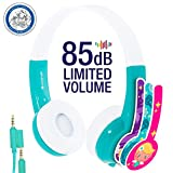 Explore Volume Limiting Kids Headphones | Durable, Comfortable & Customizable | Built in Headphone Splitter and In Line Mic | Great for School! | For iPad, Fire, Computers and Tablets | Green