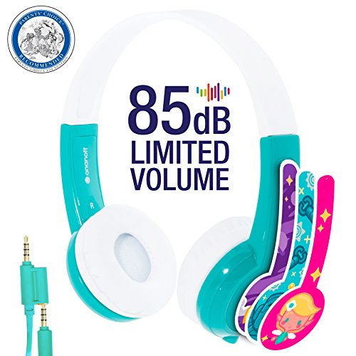 Explore Volume Limiting Kids Headphones - Durable, Comfortable & Customizable - Built in Headphone Splitter and In Line Mic -...