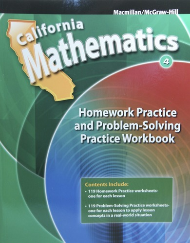 Mathematics Homework Practice and Problem-Solving Workbook Grade 4 ...