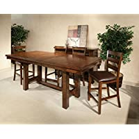 Intercon Kona Mango Wood 7 Pc Trestle Gathering Set