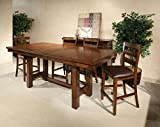 Cheap Intercon Kona Mango Wood 7 Pc Trestle Gathering Set