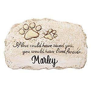 Fox Valley Traders Personalized Forever Pet Memorial, Customized Indoor/Outdoor Resin Garden Stone, Loss of Pet Sympathy Gift 6
