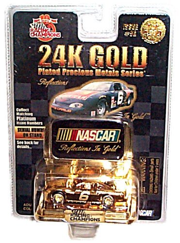 Monte Carlo Gold Series Car (Racing Champions - NASCAR - Limited Edition (1 of 4,999) - 24K Gold Plated Precious Metals Series - Chevrolet Monte Carlo #6 - Issue #9G)