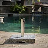 Great Deal Furniture Howard 55-pound Square Grey Granite Umbrella Base