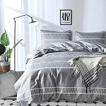 Grey Comforter Set Queen, Ultra Soft Microfiber Reversible Down Alternative Comforter Set - 3 Pieces (1 Solid Comforter Set + 2 Pillow Shams), Bedding Inner Filling Duvet Set for All Season Queen Size