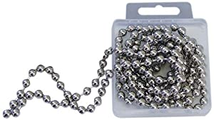 R & M 2719 Nickle Plated Brass Pie Weight Chain, 72-Inches by