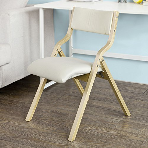 Haotian FST40-W, Wooden Padded Folding Chair, Dining Chair, Office Chair, Desk Chair (FST40-W)