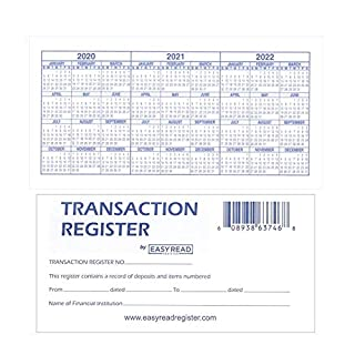 10 Checkbook Registers with 2020-2021-2022 Calendars by Easy Read Register, Pack of 10 (B0052YQCGK) | Amazon price tracker / tracking, Amazon price history charts, Amazon price watches, Amazon price drop alerts