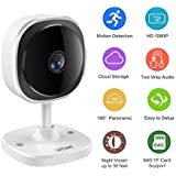 Safevant 1080p Home Camera, Indoor Wireless IP Security Surveillance System with Night Vision for Home/Office/Baby/Pet Monitor with iOS, Android App - Cloud Service Available