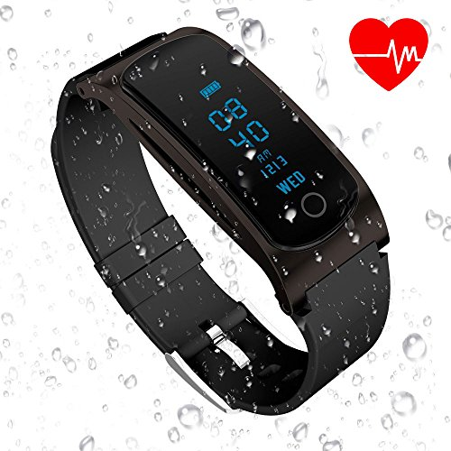 HYON Waterproof Fitness Tracker with Heart Rate Monitor Kids Activity Tracker Fitness Tracker Watch Wearable Pedometer Sleep Monitor Bluetooth Smart Watch for iOS iPhone X Android Cell Phone