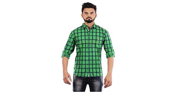 c98c1e6d RAW STUDIO MUFTI MOGUL SLIM GREEN MENS CASUAL SHIRT size XXL: Amazon.in:  Clothing & Accessories